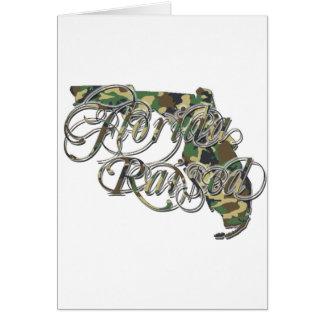 Florida Razed CamoWhite Logo 1 copy Greeting Card