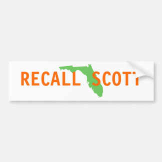 FLORIDA, RECALL SCOTT BUMPER STICKER