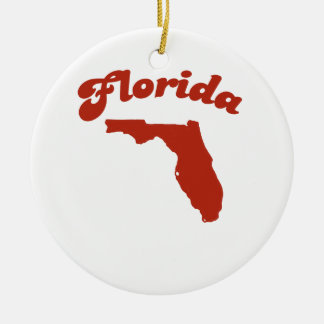 FLORIDA Red State Christmas Ornament