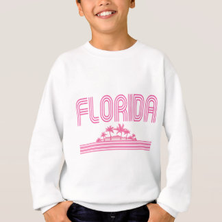 Florida Retro Neon Palm Trees Pink Sweatshirt