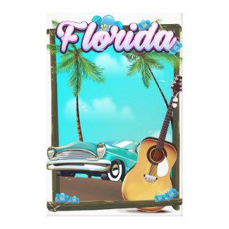 Florida Retro style travel poster Canvas Print