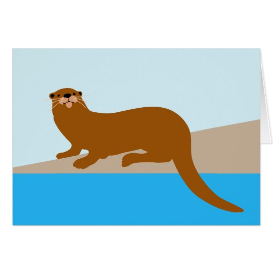 Florida River Otter Card