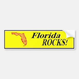FLORIDA ROCKS bumper sticker