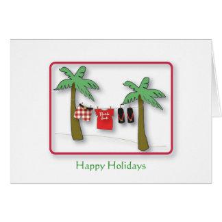 Florida Santa, Happy Holidays Greeting Card