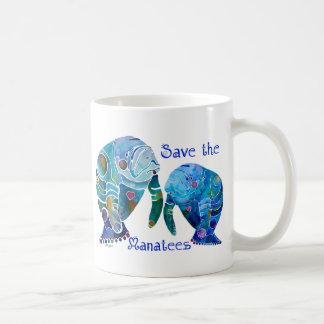 Florida Save the Manatees in Vivid Blues Mug