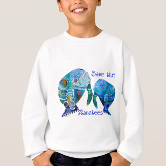 Florida Save the Manatees in Vivid Blues Sweatshirt