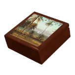 Florida Scene - Albert Bierstadt, artist Large Square Gift Box