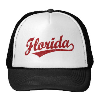 Florida script logo in red cap