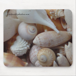florida sea shells mouse mat