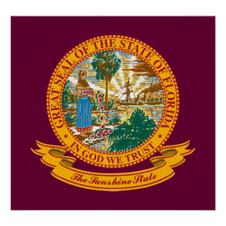 Florida Seal Print