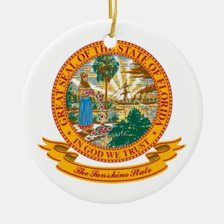 Florida Seal Round Ceramic Decoration