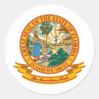 Florida Seal Round Sticker