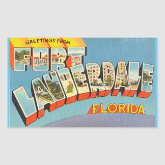 Florida, Sheet of 4 Fort Lauderdale stickers