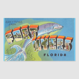 Florida, Sheet of 4 Fort Myers stickers