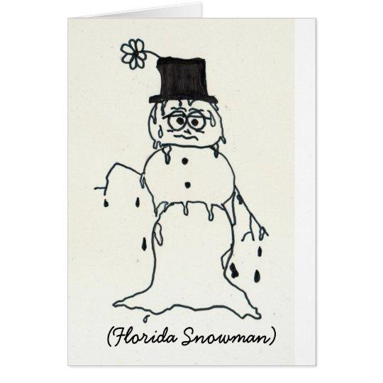 Florida Snowman Card