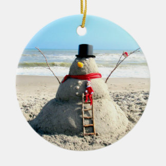 Florida Snowman Ornament
