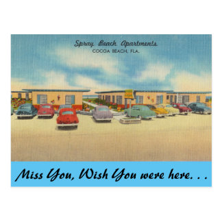 Florida, Spray beach Apartments, Cocoa Beach Postcard
