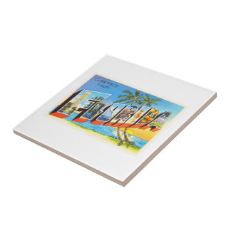 Florida State # 2 FL Old Vintage Travel Souvenir Tile