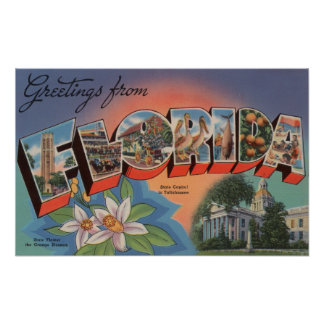 Florida (State Capital Scene) Poster