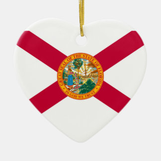 Florida State Flag Design Decor Christmas Ornament