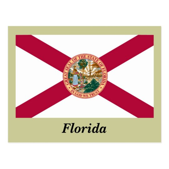 Florida State Flag Postcard
