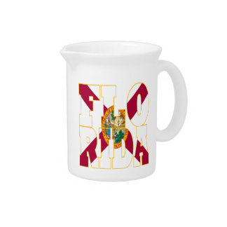 Florida state flag text pitcher