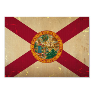Florida State Flag VINTAGE.png 13 Cm X 18 Cm Invitation Card