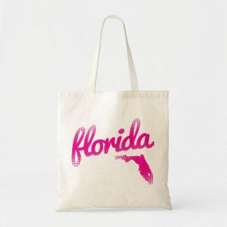 Florida state in pink tote bag