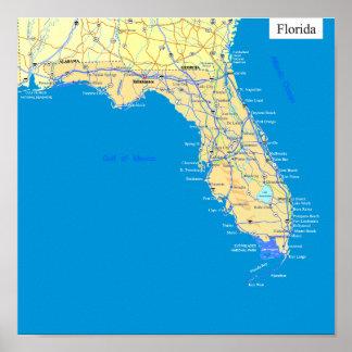 Florida state map poster