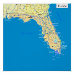 Florida state map posters