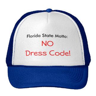 Florida state motto - No Dress Code - CAP Trucker Hats