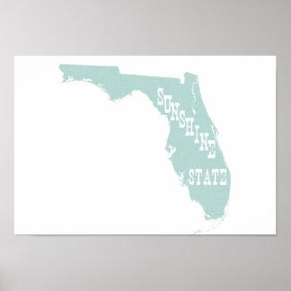 Florida State Motto Slogan Posters
