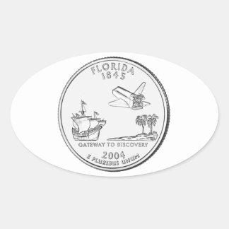 Florida State Quarter Oval Sticker