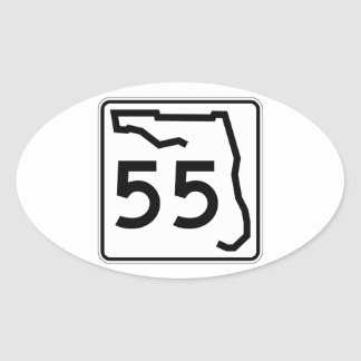 Florida State Route 55 Oval Sticker