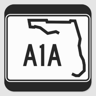 Florida State Route A1A Square Sticker