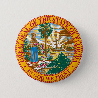 Florida State Seal 6 Cm Round Badge