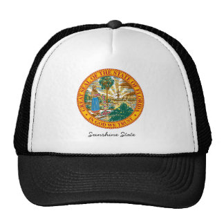 Florida State Seal and Motto Trucker Hats