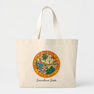 Florida State Seal and Motto Large Tote Bag