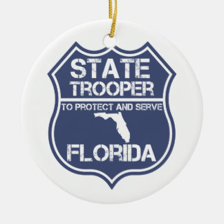 Florida State Trooper To Protect And Serve Christmas Ornament