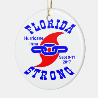 Florida Strong Hurricane Irma Christmas Ornament