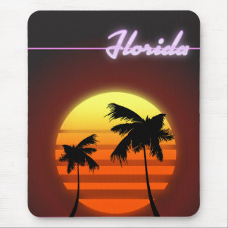 Florida Sunset 1984 poster Mouse Mat