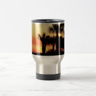 Florida - Sunset and palm trees traveler mug