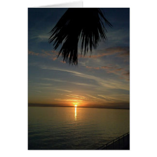 Florida Sunset Card