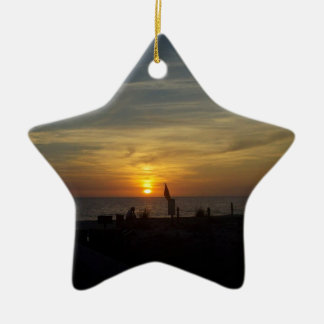 Florida Sunset Christmas Ornament