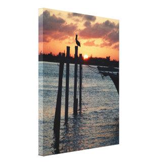 Florida Sunset on Premium Canvas Stretched Canvas Prints