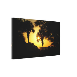 Florida Sunset on the Gulf Coast Stretched Canvas Print