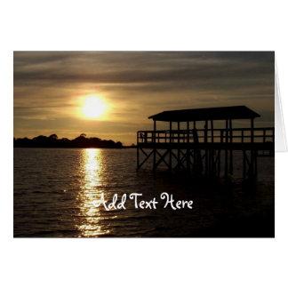 Florida Sunset Photography Greeting Card