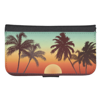 Florida Sunset Samsung S4 Wallet Case