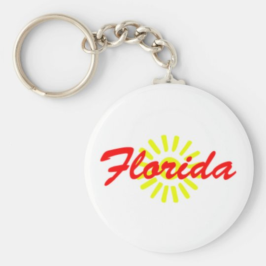 Florida Sunshine Souvenir Keychain