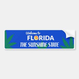 Florida - Sunshine State Cannabis Bumper Sticker